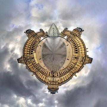 Louvre 360 Panorama-Planet von Dennis van de Water