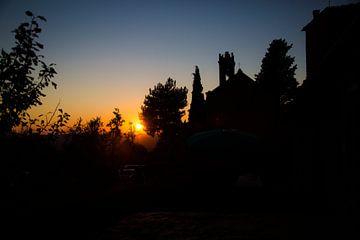 Toscaanse Zonsondergang van Charlie Raemakers