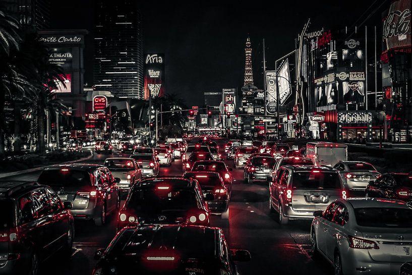 Las Vegas Strip (Grey) van Rolf Linnemeijer