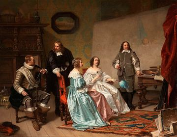 Die Prinzessin von Oranien zu Besuch in der Werkstatt von Bartholomeus van der Helst, Hendrik Jacobu