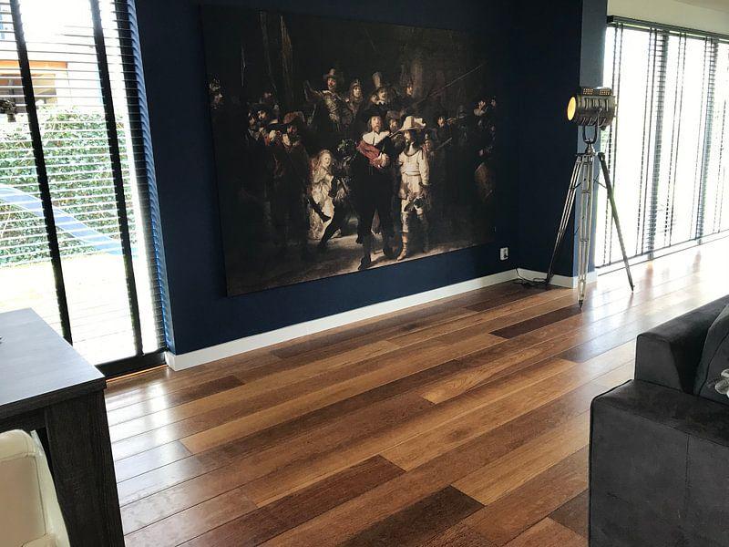 Klantfoto: De Nachtwacht, Rembrandt van Rijn, op print op doek
