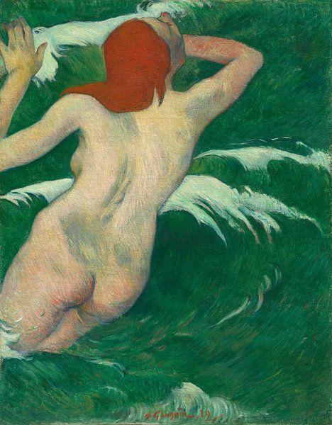 In the Waves, Paul Gauguin von Meesterlijcke Meesters