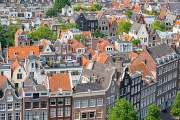 Panoramablick über den Frühling Amsterdam vom Westerkerk-Turm aus. von Sjoerd van der Wal