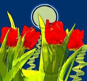 Tulpenfeld von Vera Laake