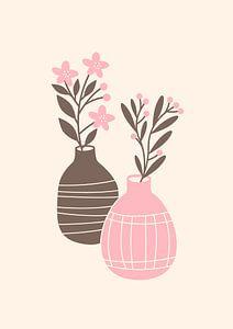 Two vases van