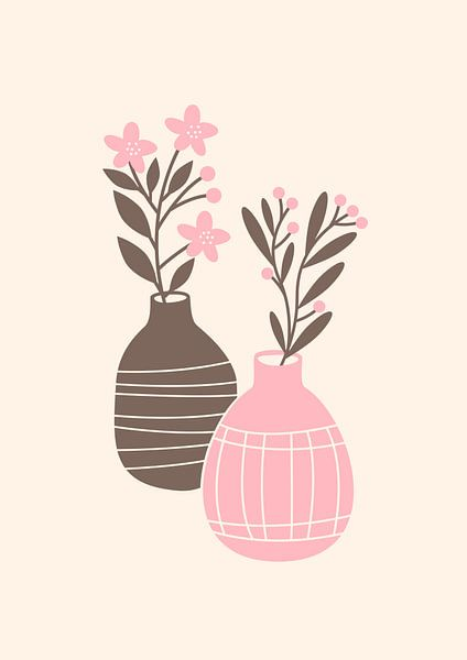 Two vases van Rene Hamann