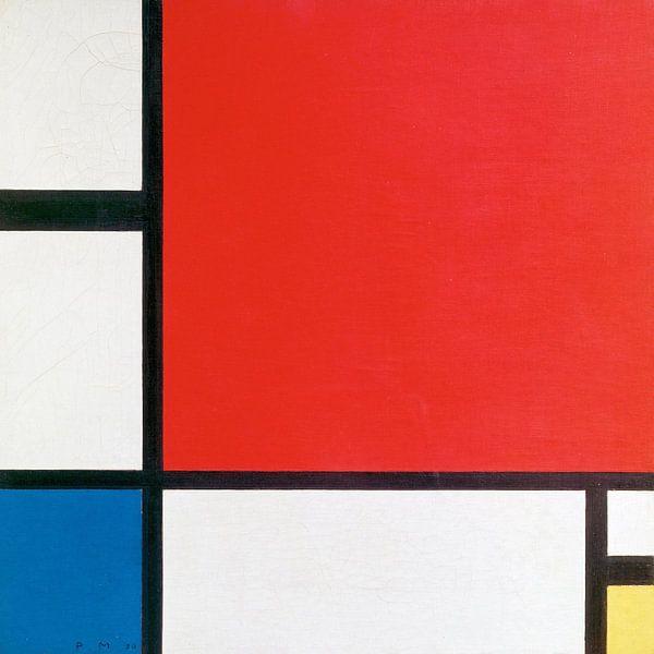 Piet Mondriaan. Composition II in Red, Blue, and Yellow van 1000 Schilderijen