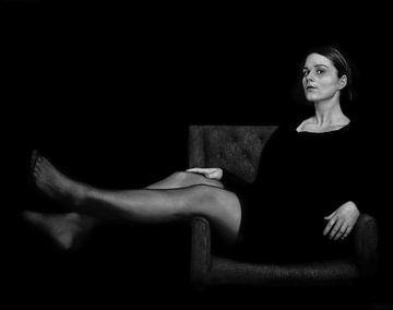 Femme en fauteuil