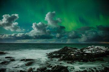 Aurora Borealis, Lofoten, 2016 van Nando Harmsen