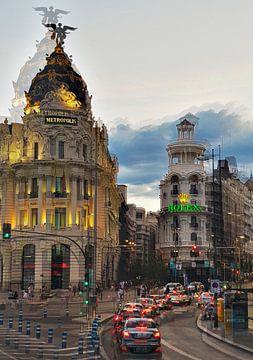 Gran Vía - Madrid van Birgit Wagner