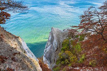 Baltic Sea coast on the island Moen in Denmark van Rico Ködder