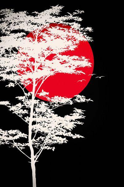 Blutmond - Blood moon van Dagmar Marina
