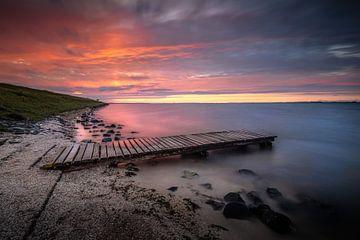 Zonsondergang Zeeland van Silvia Thiel