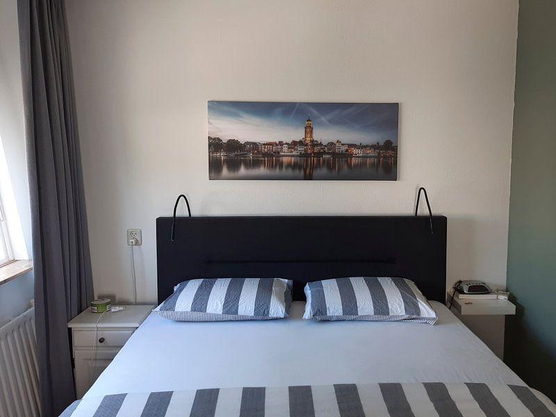 Klantfoto: Deventer Skyline van Remco Lefers, op canvas