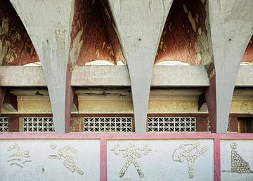 Détail du stade Jose Marti à La Havane. Cuba sur Tjeerd Kruse