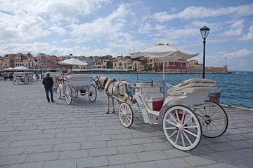 Vervoer in de haven van Rethymno van t.ART