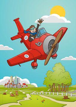 De zwaaiende piloot van Galerie Ringoot