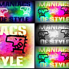 Collage maniacs of Style Figures von Nicky`s Prints