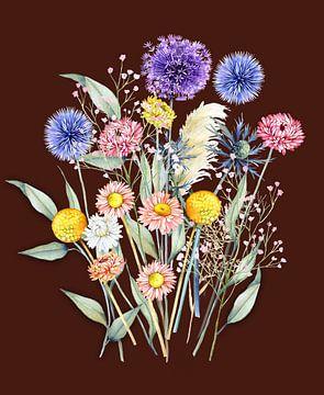 Bouquet de fleurs sèches sur Geertje Burgers