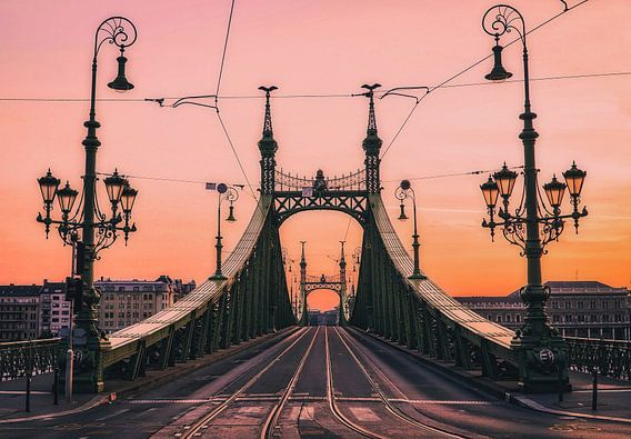 Vrijheidsbrug bij zonsopgang