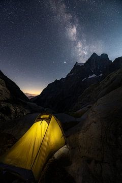 Schlafen unter den Sternen in den französischen Alpen von Jos Pannekoek