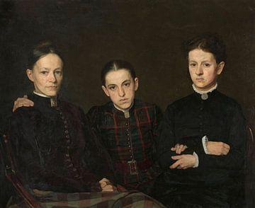 Portrait de Cornelia, Clara et Johanna Veth, Jan Veth sur