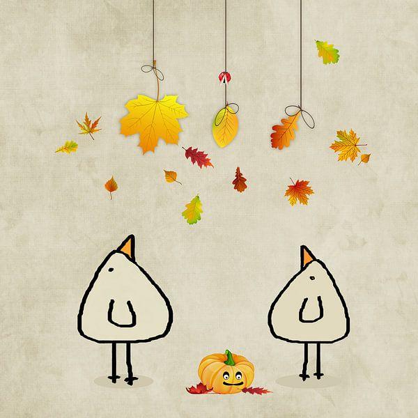 Herfst is hier! Piepvogel van Marion Tenbergen