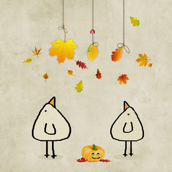 Herbst ist da! Piepvogel von Marion Tenbergen