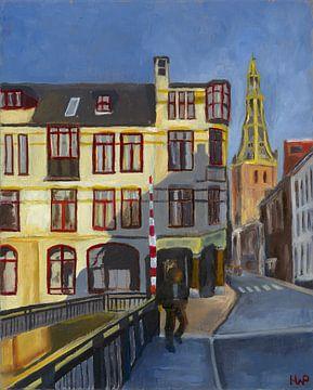 De Brugstraat van Groningen Stad