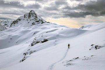 Alleen in een sneeuwwitte bergwereld van Jonathan Vandevoorde