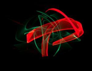 Groen versus rood - lightpainting van
