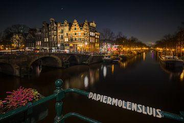 Amsterdam Papiermolensluis von Edwin Mooijaart