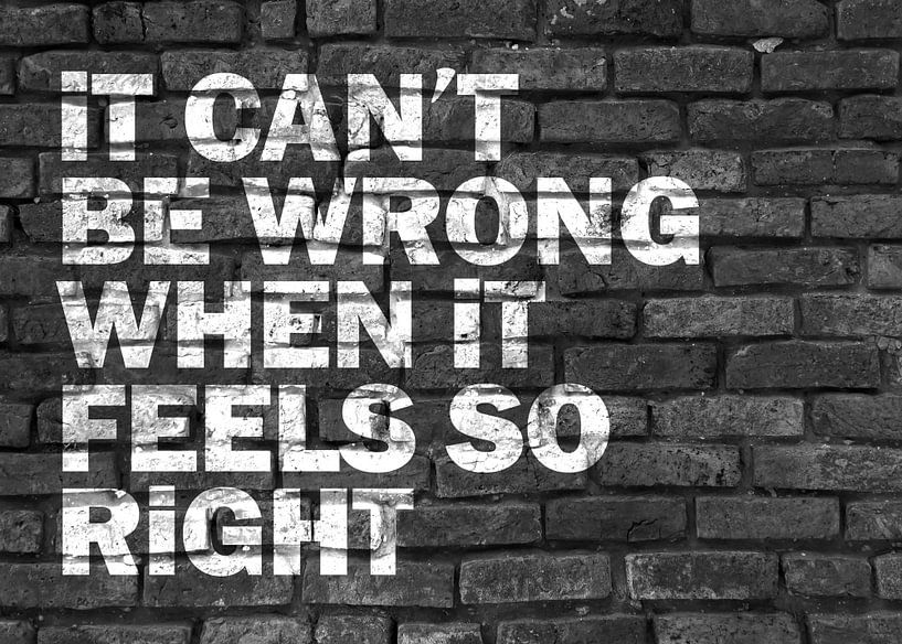 Inspirerende spreuk graffiti in zwart-wit van KalliDesignShop