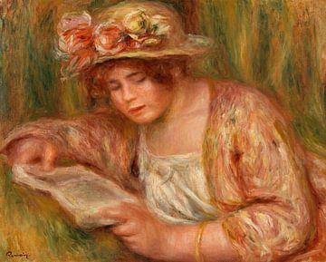 Renoir, Andrée mit Hut, liest (1918) von Atelier Liesjes