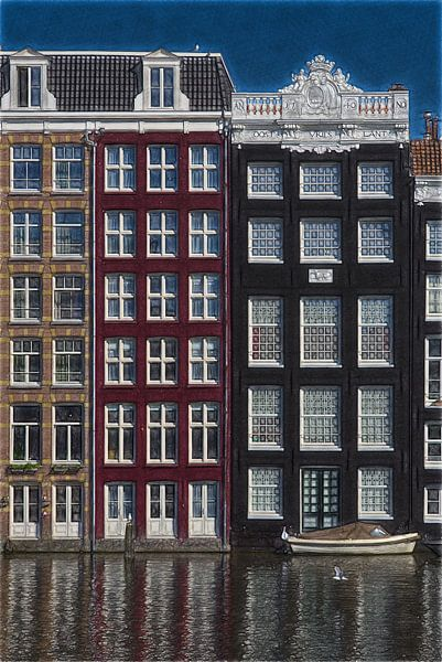 Photo d'un croquis d'Amsterdam sur Mike Bing