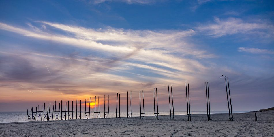 Steiger van Sil - zonsopkomst - Texel van Texel360Fotografie Richard Heerschap