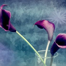 pastel flower art van Ineke Huizing
