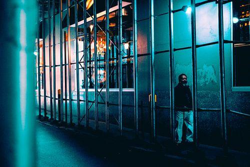 Eenzame wandelaar in New York