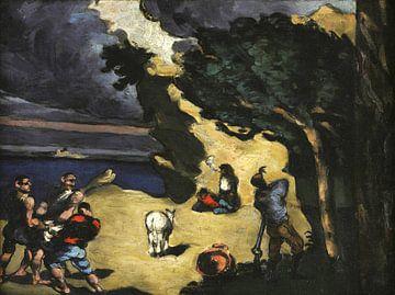 Paul Cézanne, Die Diebe und der Esel - 1869 von Atelier Liesjes