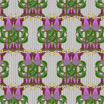 Les Tulipes Art Deco sur Marijke Mulder