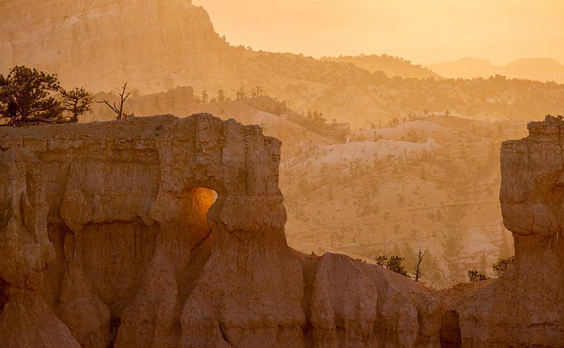 Sonnenuntergang am Bryce Canyon von Peter Nijsen