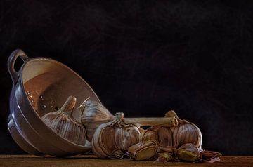 Knoflook en zeef van Erik van Tienhoven van Weezel
