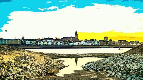 Nijmegen in avondlicht