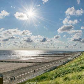 Pays du sel, soleil, mer et plage en fin de journée sur Patrick Verhoef