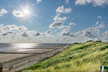 Zoutelande, zon, zee en strand aan het einde van de dag