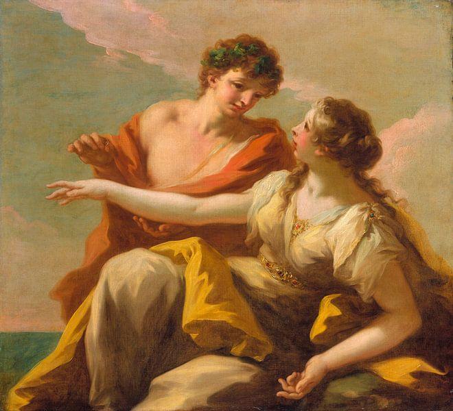 Bacchus und Ariadne, Giovanni Antonio Pellegrini von Meesterlijcke Meesters