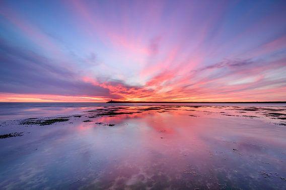 Wide angle sunset van Ellen van den Doel