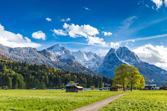 Frühling im Zugspitzland van Manfred Schmierl