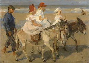 Ezeltje rijden langs het strand, Isaac Israels