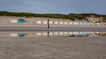 Strandhuisjes Paal 9 Texel van Ronald Timmer